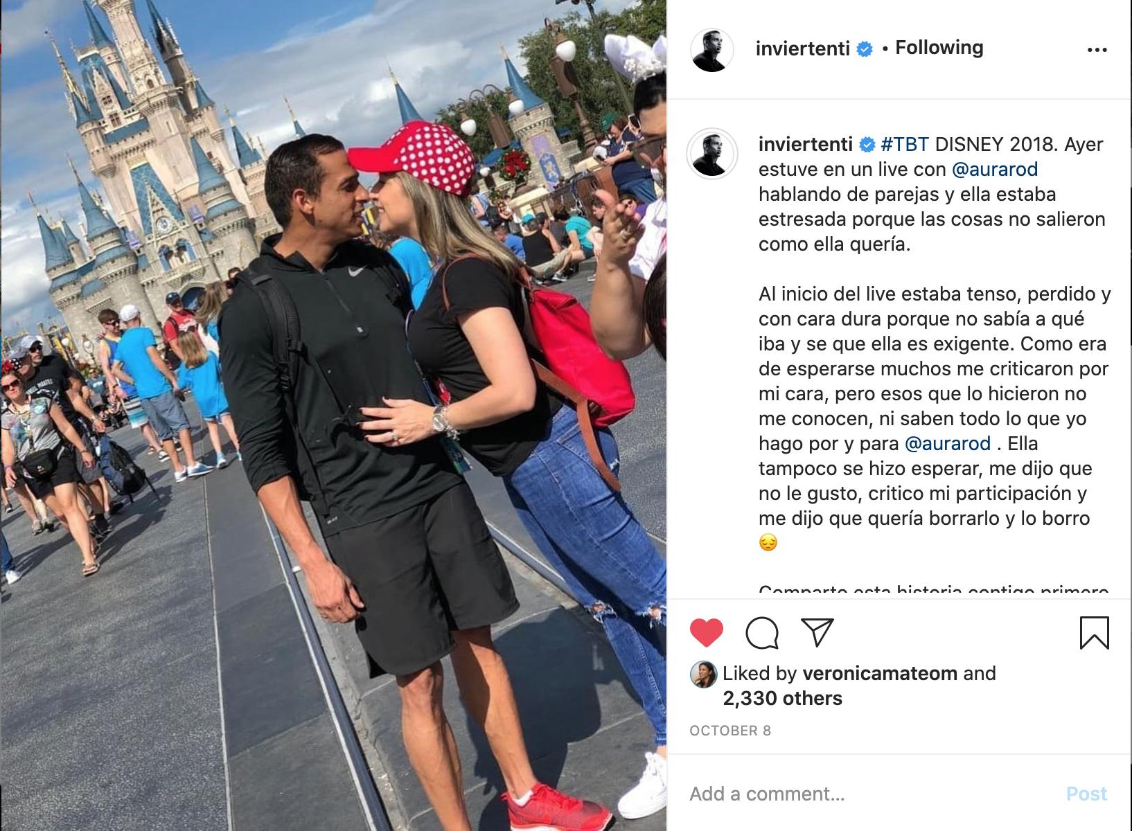 Instagram post de un desafio junto a mi esposo @inviertenti