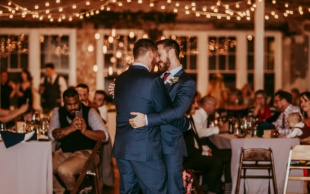 grooms dance at reception