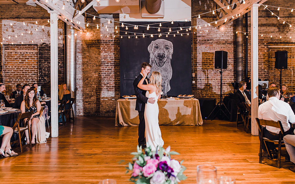 couples first dance at reception
