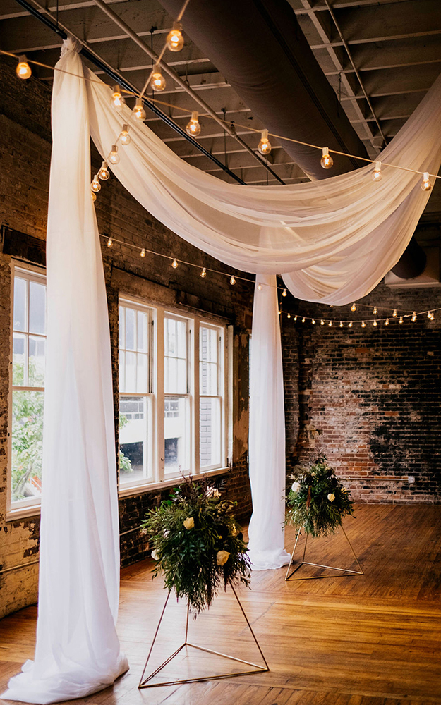 drapes in front of windows