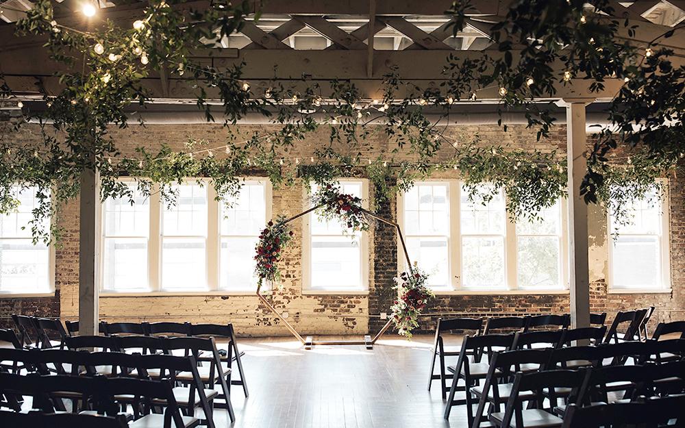 ceremony floral backdrop
