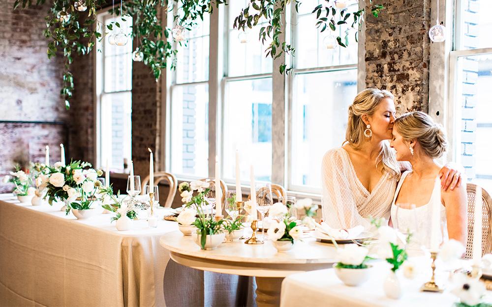 brides at head table