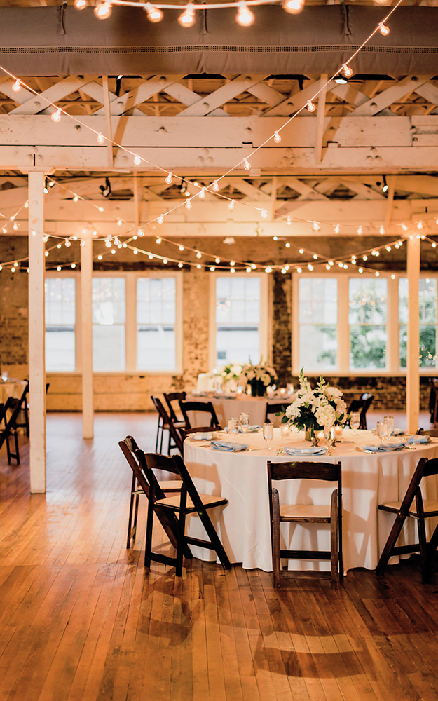 reception with round tables
