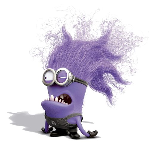 Evil purple minion
