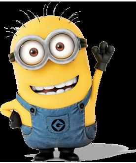 Yellow minion waving