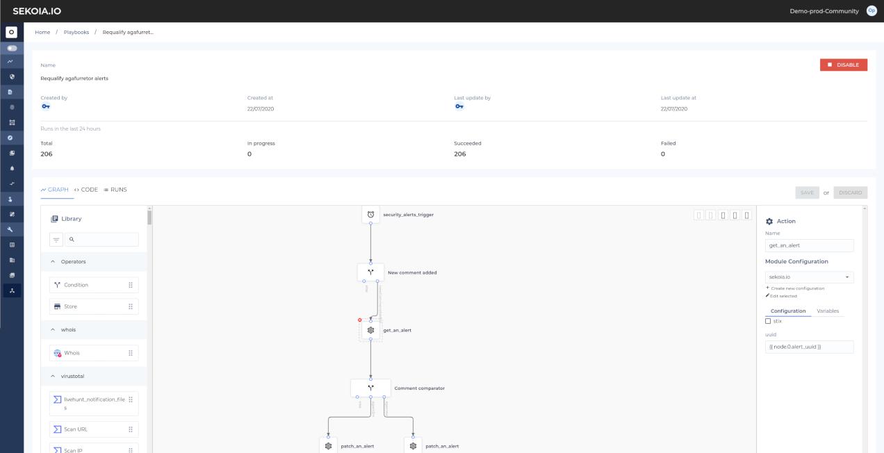Screenshot workflow threat response automation orchestration