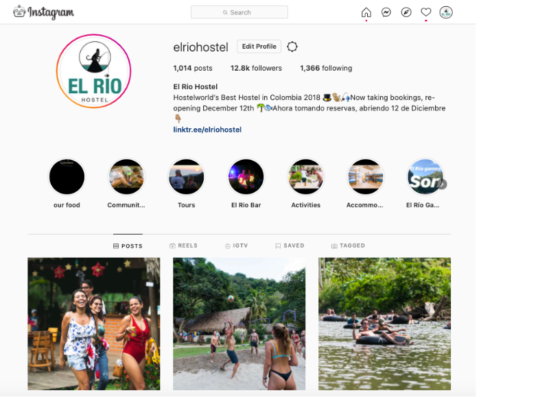 Social Media for El Rio Hostel