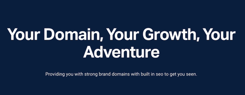 Acquire a strong domain name with built in SEO to quickly gain SEO traction and leads