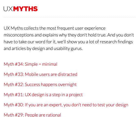 UX Myths