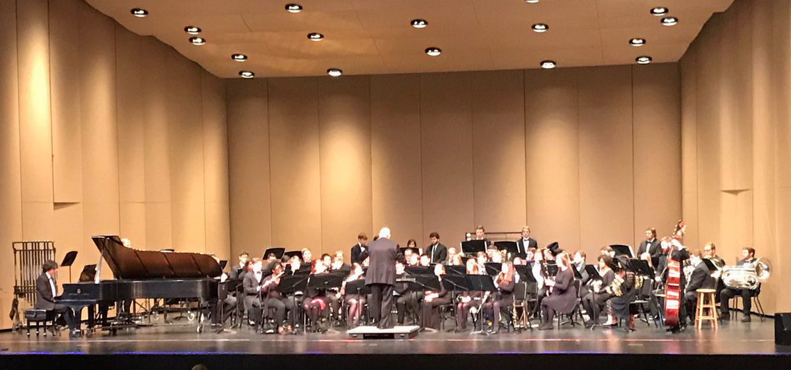 UCA Wind Ensemble in concert on the Reynolds Hall stage
