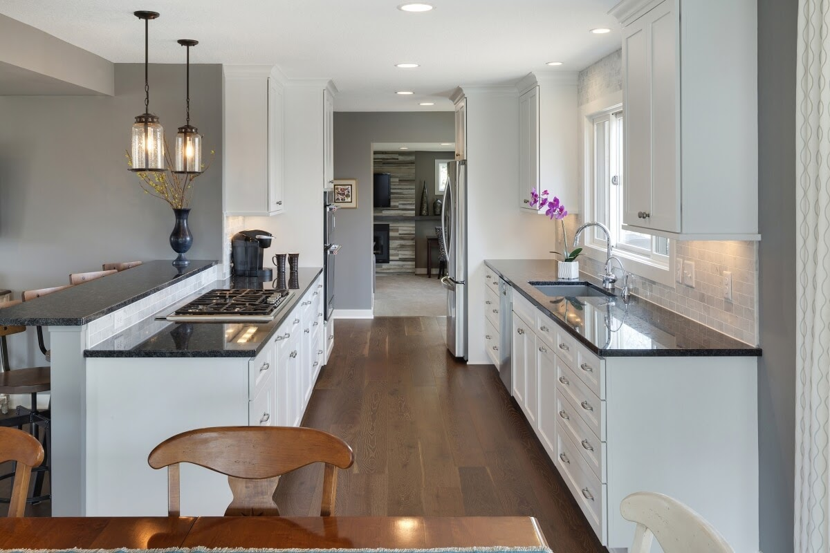 A galley kitchen remodel with ample counter space