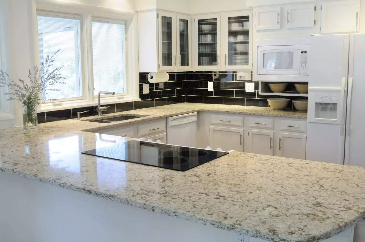 A Granite Countertop in a Beautiful Kitchen