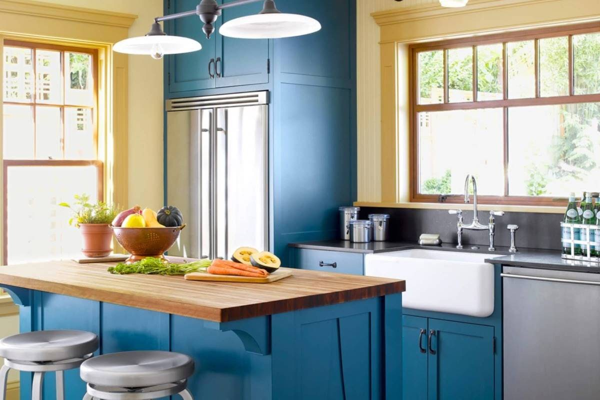 Homey Kitchen with Wood Countertops