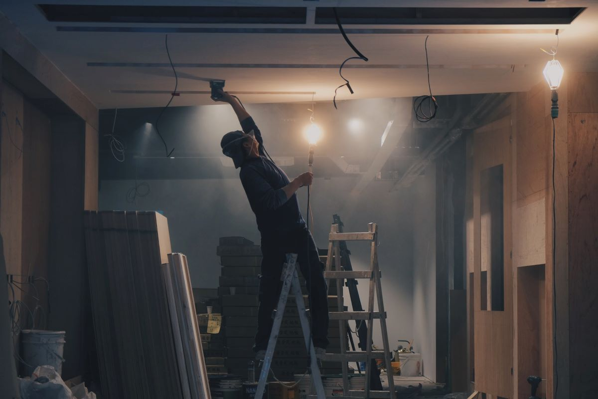 Man Working on a Big Home Improvement Project