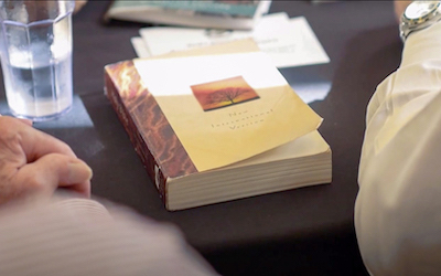 An NIV Bible on a table