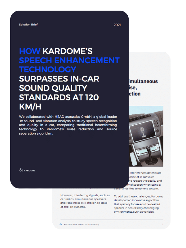 speech recognition quality study in cars by Kardome