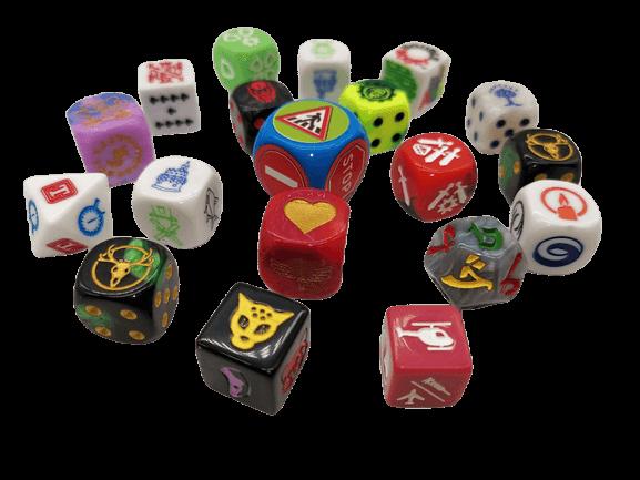 components custom dice