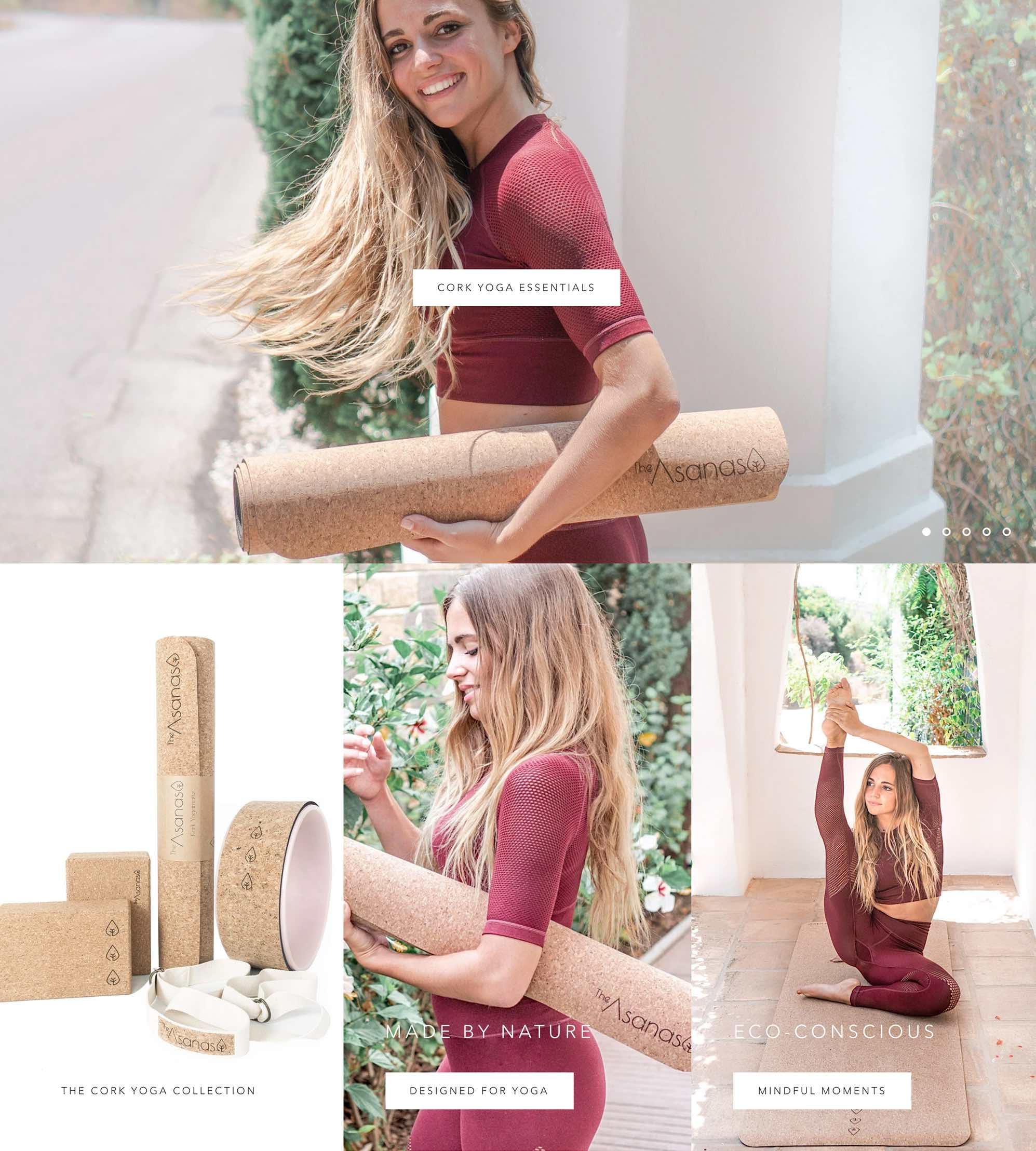 yogautstyr norsk nettbutikk fri frakt kork yogamatte kork yogablokk yogahjul meditasjonspute yogabolster bærestropp yoga produkter bolser. meditering