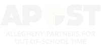 Allegheny partners for Out-of-school time text logo. The short form is APOST.