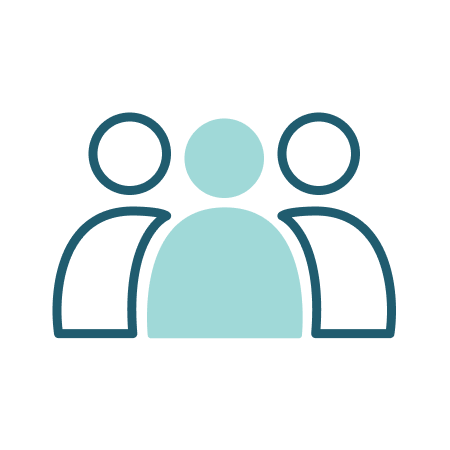 Illustration of a group of outline people.