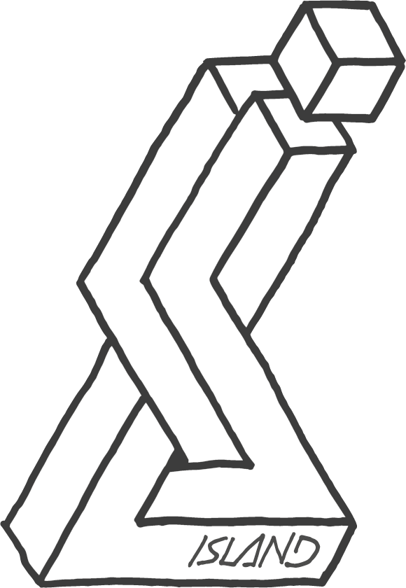 Island Snowboards hand drawn logo