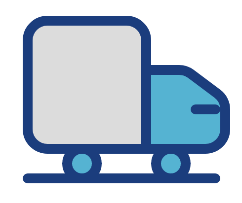 Copier Service Company Delivery Truck Icon
