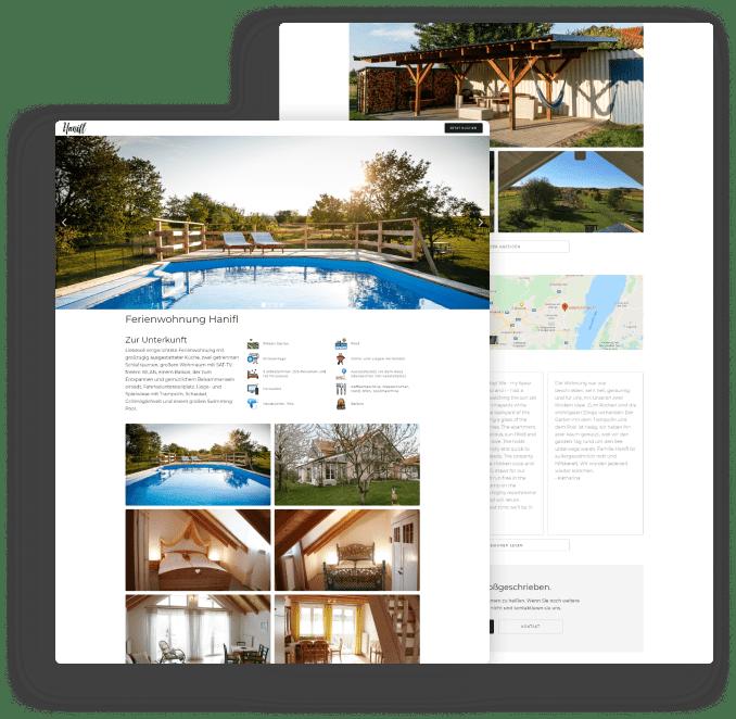 Ferienwohnungen Hanifl - Website