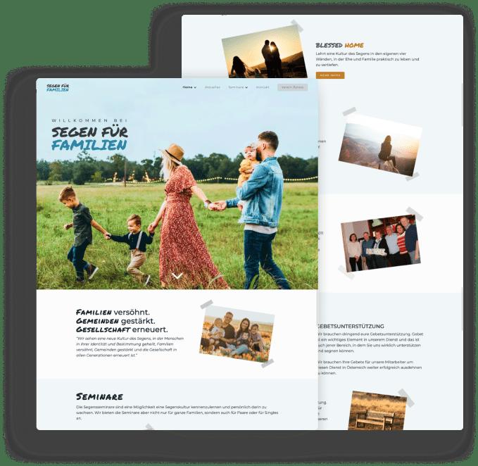 Segen für Familien - Website