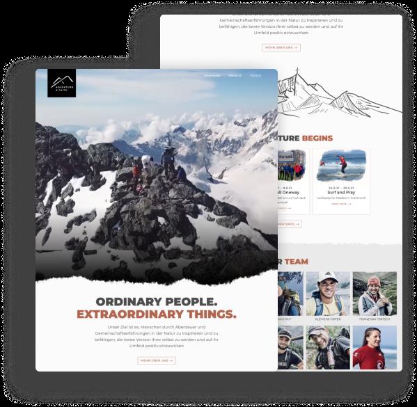 Adventure and Faith - Website