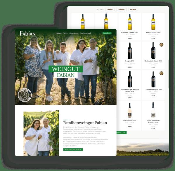 Weingut Fabian - Website