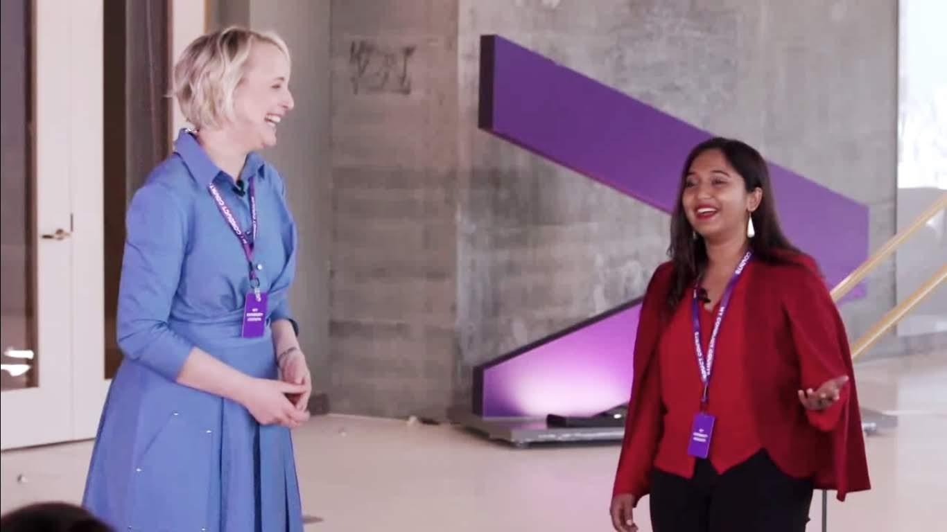 Nivi Achanta talking to Accenture CEO Julie Sweet