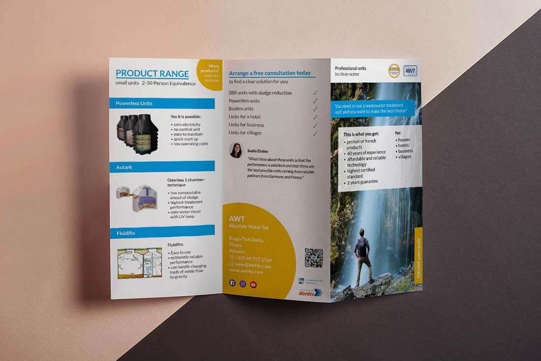 Folder/Flyer Lanterno - Design & Video für Unternehmen