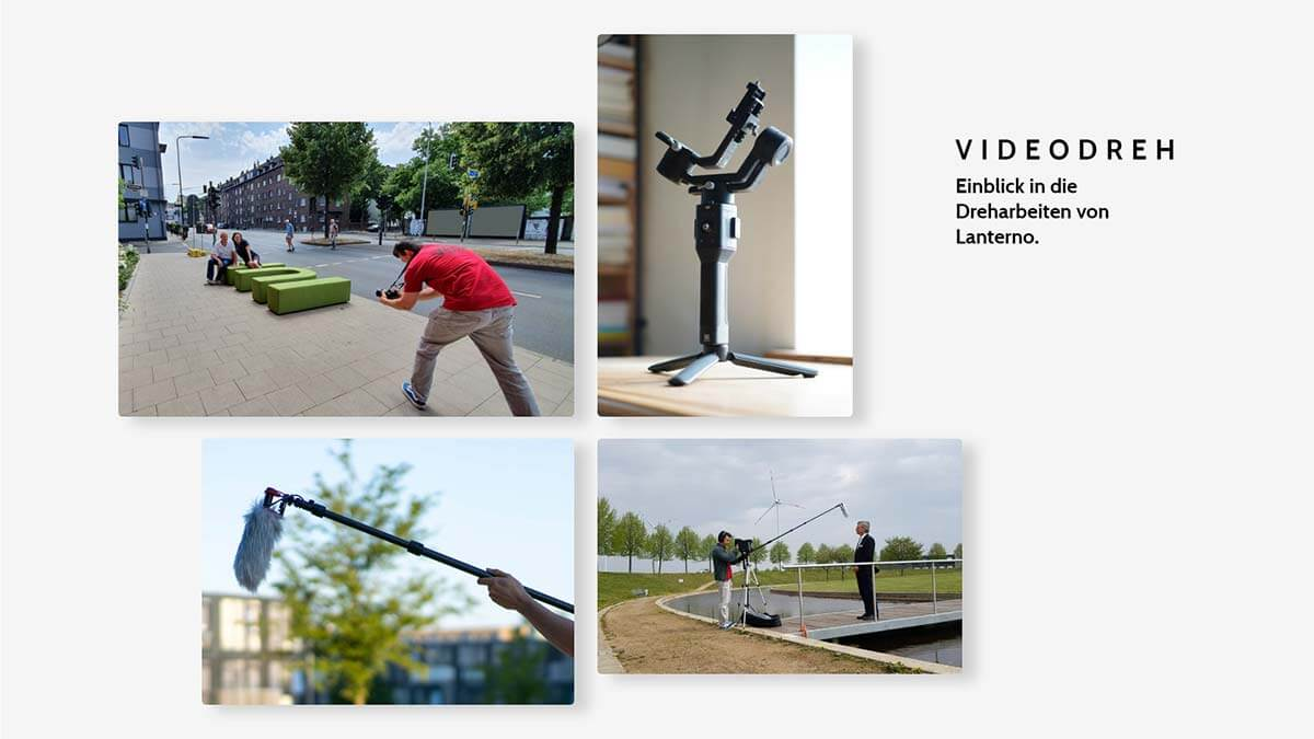Videodreh Dreharbeiten Einblick Lanterno - Design & Video für Unternehmen