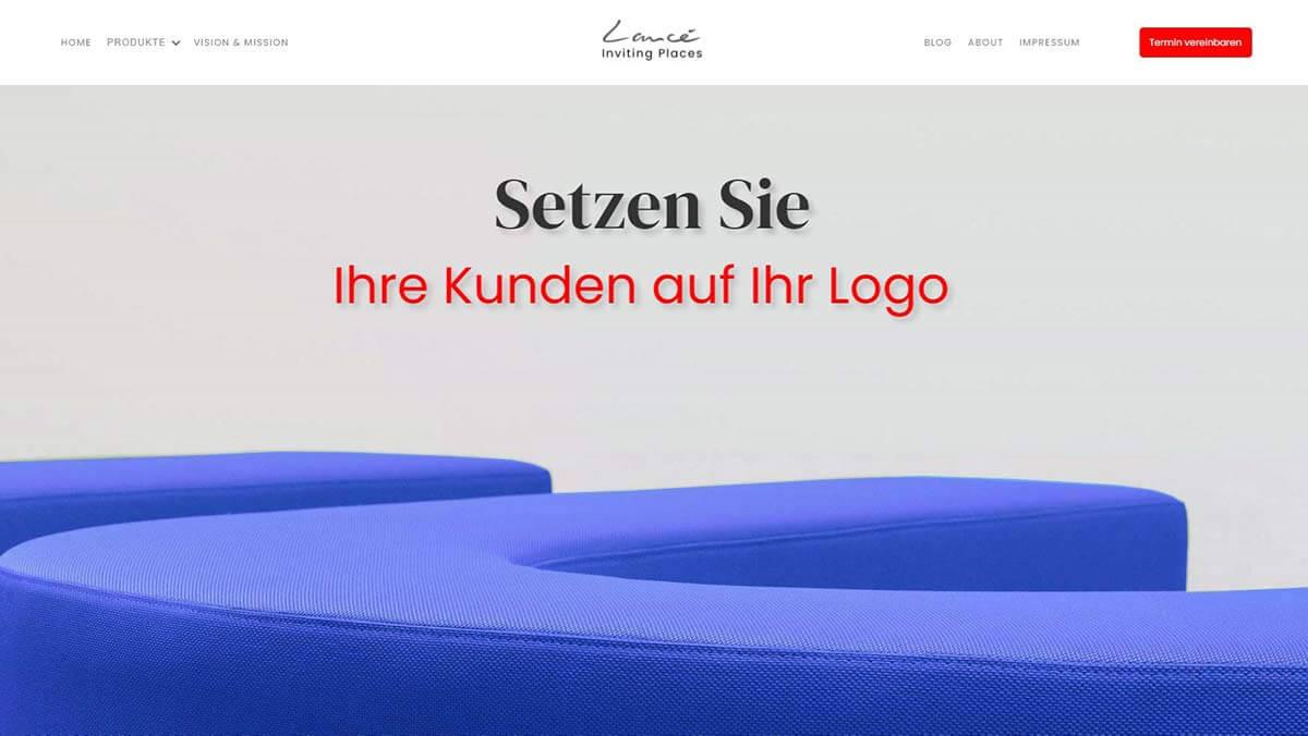 Website Hero Bereich Modern Webdesign