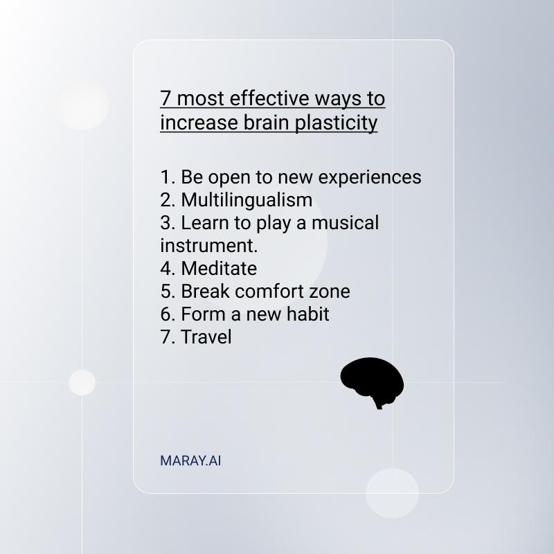 7 effective ways to increase brain plasticity