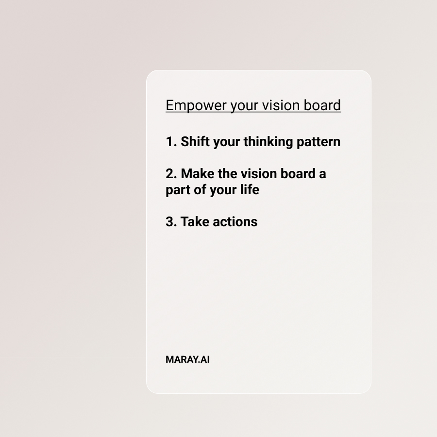 Empower your vision board