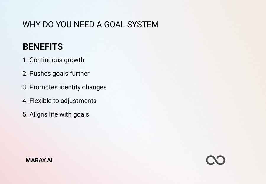 5 reasons why you need a goal system