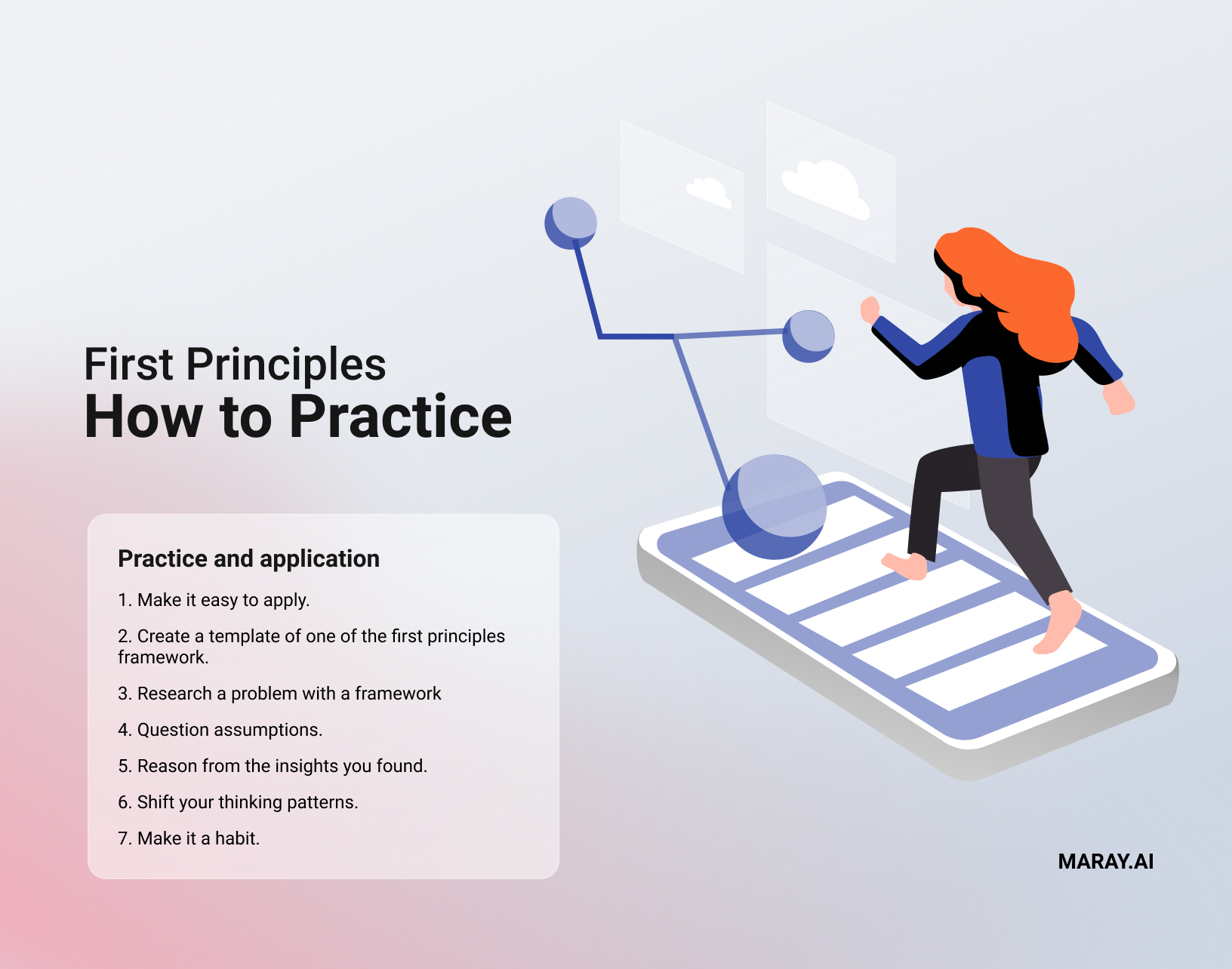 How to practice first principles thinking