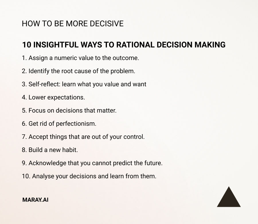 Rational Decision Making tips and strategy