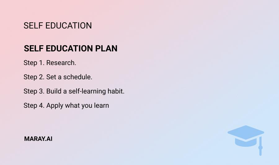 self education plan