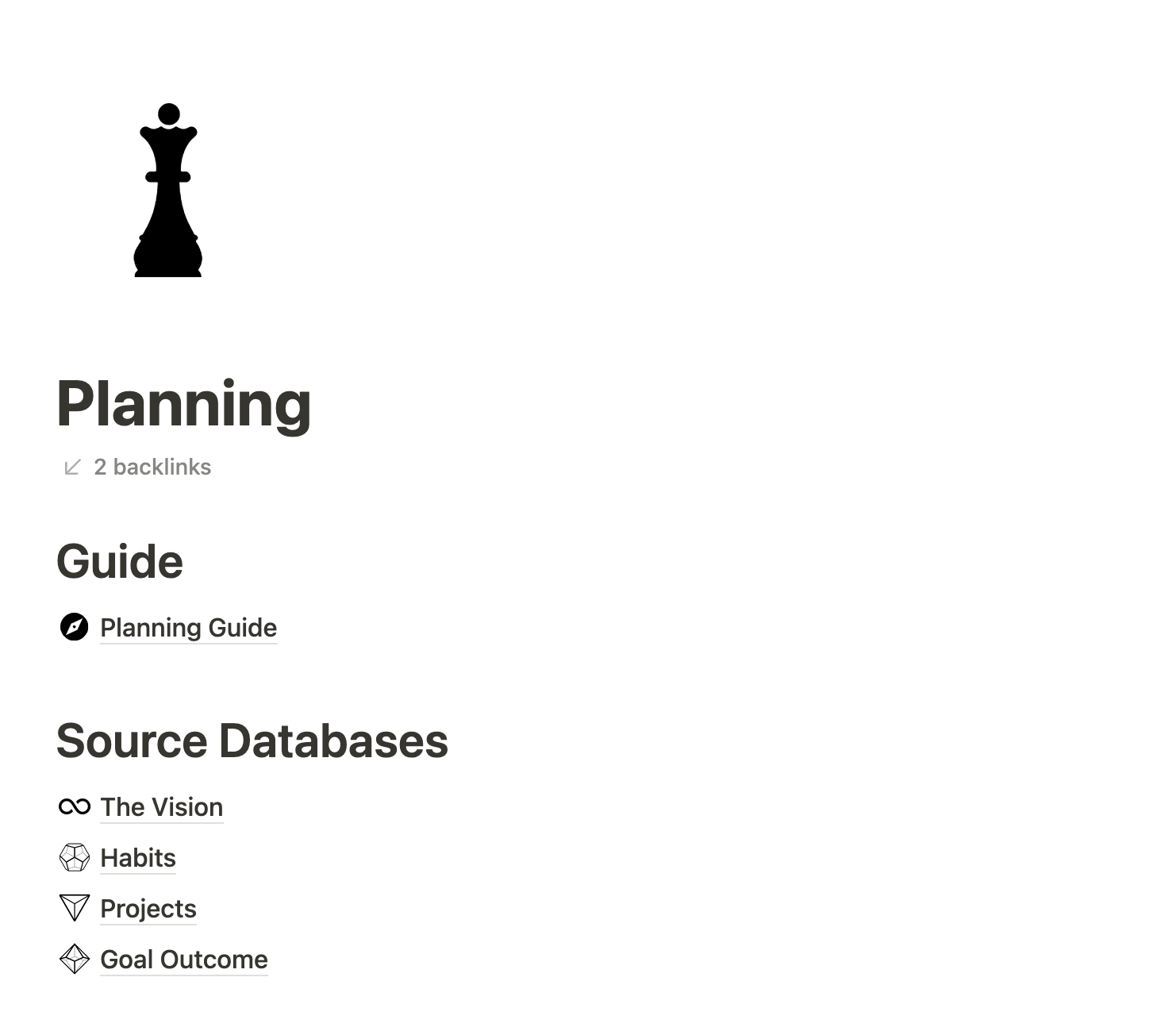 Notion life operating system planning guide