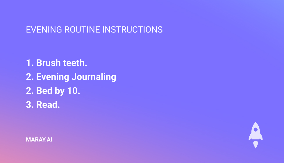 Notion life operating system evening routine instructions