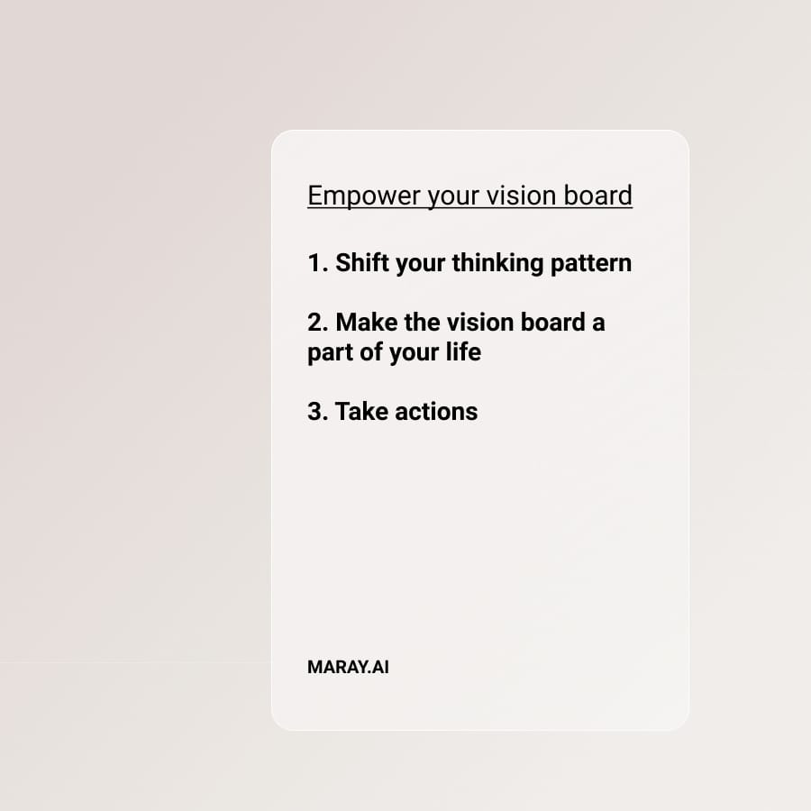 3 steps to empower your vision board.