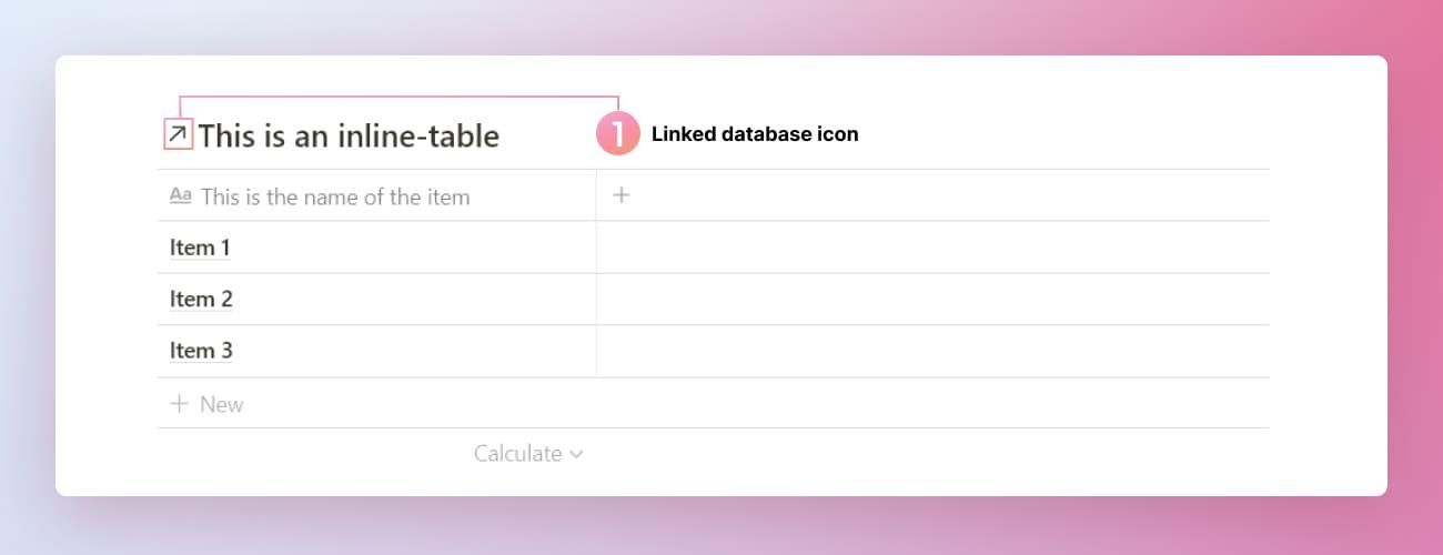 Notion linked database diagram.