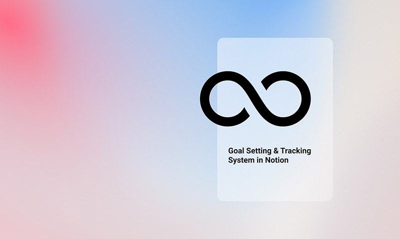 Goal setting system template in Notion