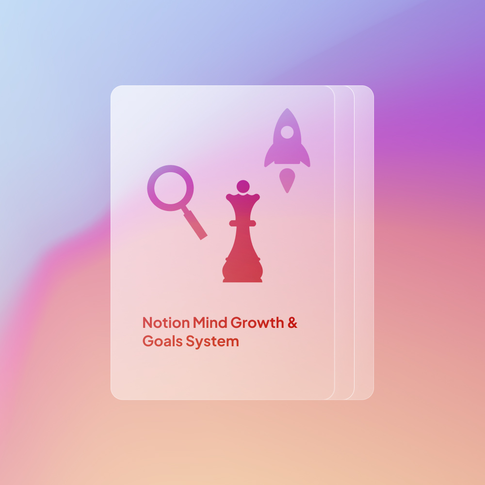 Notion Mind Growth and Goals System template for analyzing, setting, and executing goals systematically.