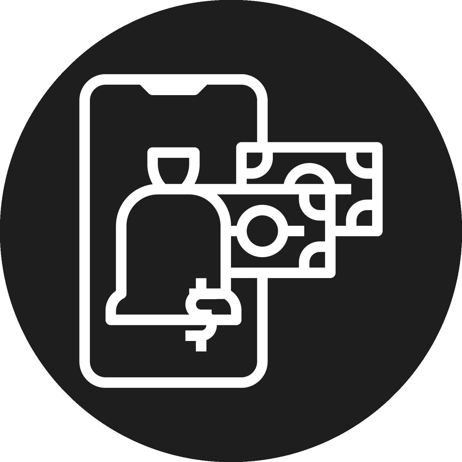 2D deposit icon
