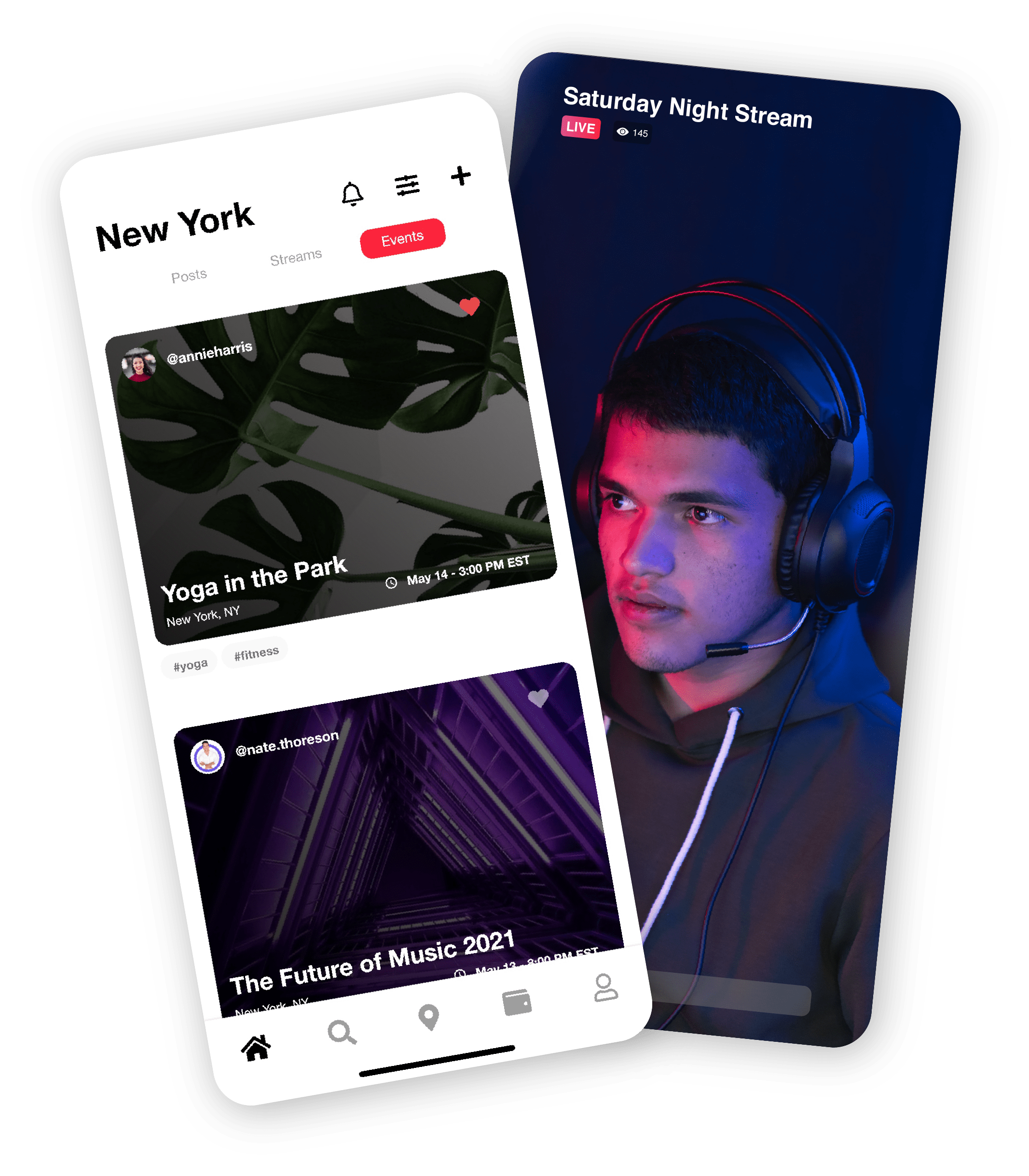 Webblen events on phones