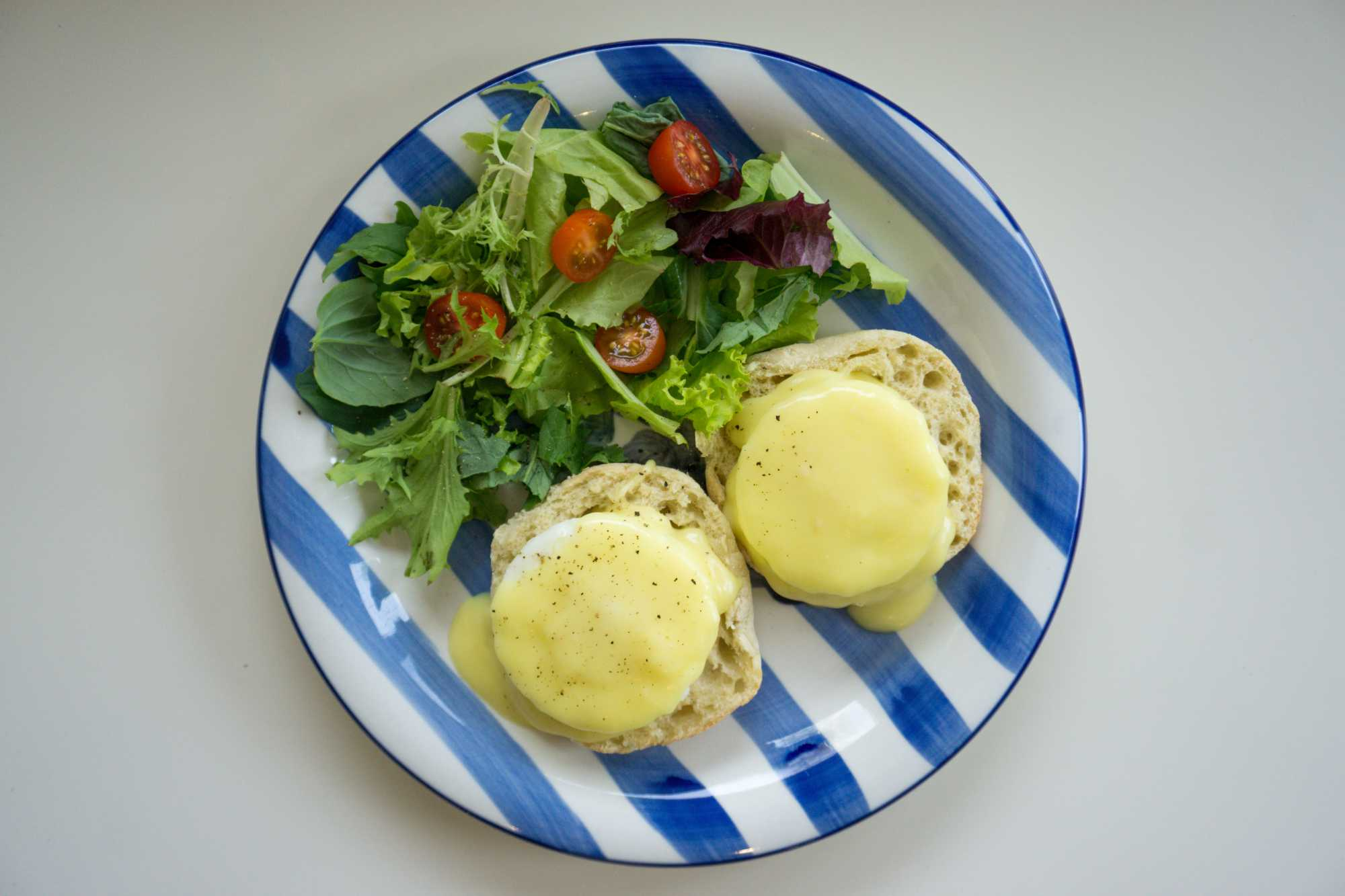 Eggs Benedict - one of Susan's signature breakfasts at The Empty Nest in Prince Edward County