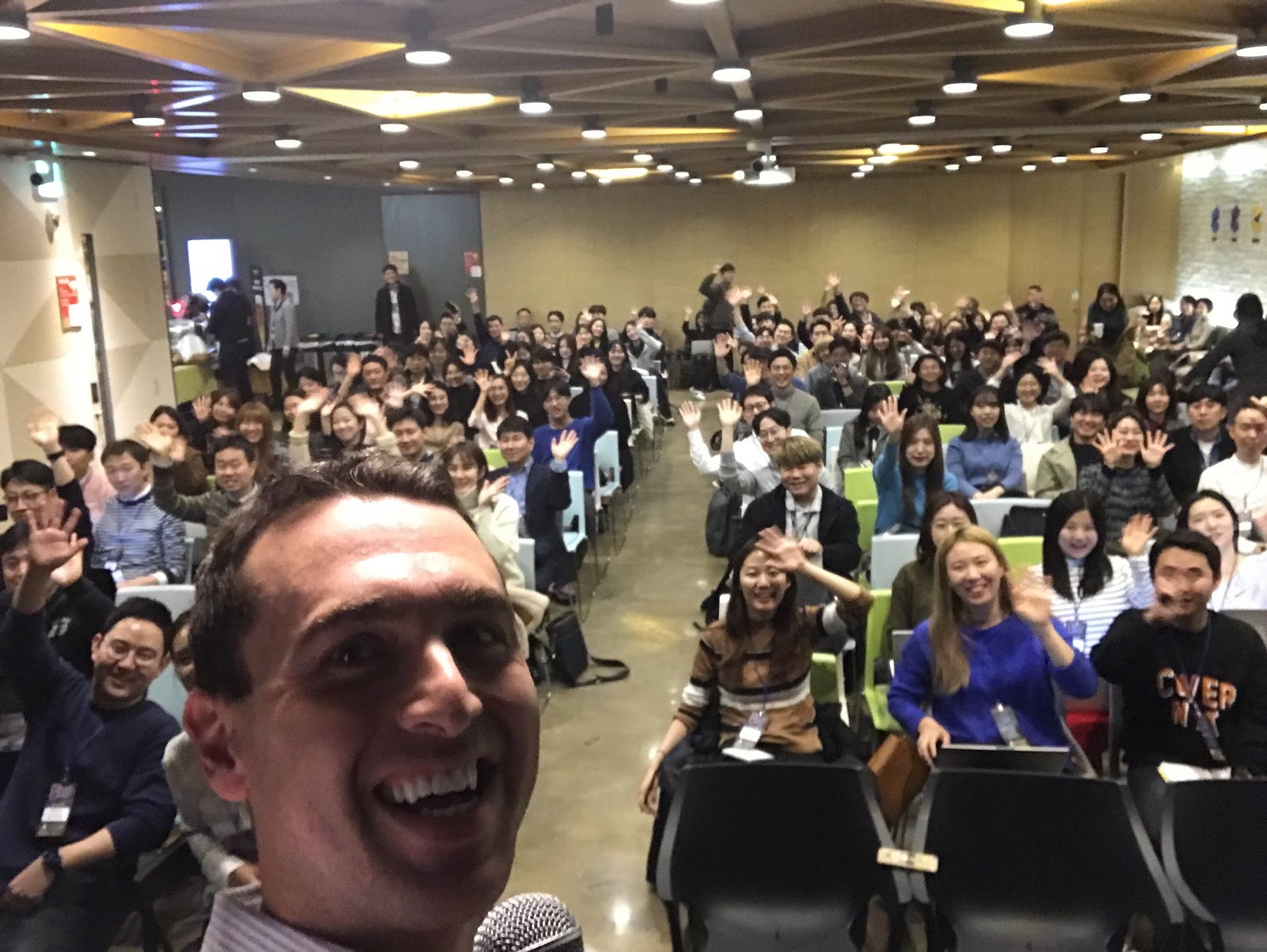 Selfie with audience
